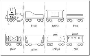 freight train printables