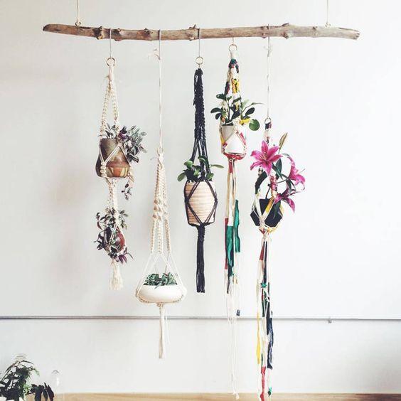 Supports pour plantes - Tendance : les plantes prennent de la hauteur - Elle Décoration