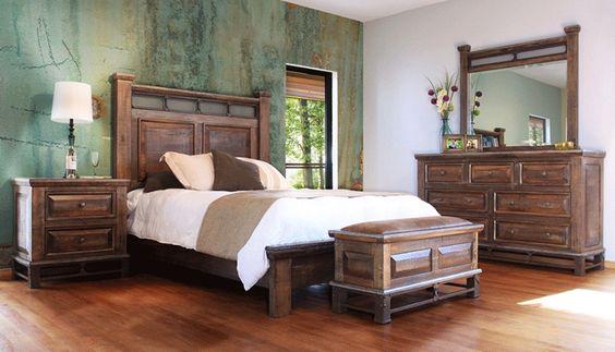 Venecia Rustic Wood Bedroom Set - King 5 Piece Bedroom Set; Reg ...