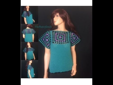 How to Crochet a Blouse / Top Pattern #15│by ThePatterfamily - YouTube: