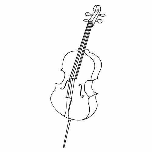 cello ausmalbild kita musik lieder pinterest instruments and colour book