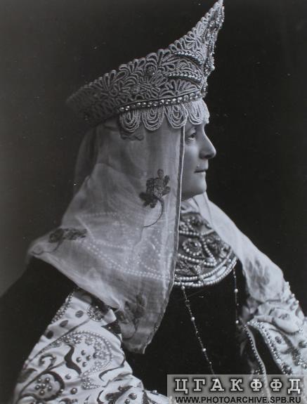 Княгиня Н.А.Барятинская в костюме боярыни XVII века.