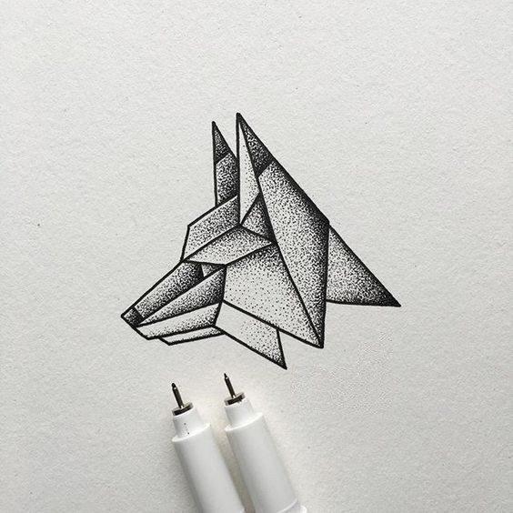 Para Dibujar A Lapiz 81 Ilustraciones De Animales Paradibujar Fun Geometric Drawing Fineliner Art Stippling Art