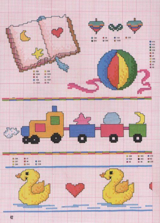 Gallery Ru фото 37 Punto Croce Nº 167 Fantasie Par Il Bebe Chispitas Ositos Punto De Cruz Punto De Cruz Infantil Punto De Cruz Bebe