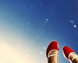 Red Shoes Blue Sky.