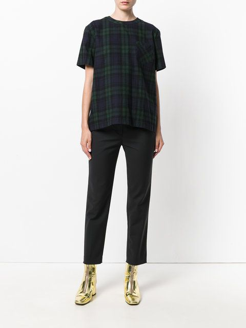 Sacai flannel plaid shirt