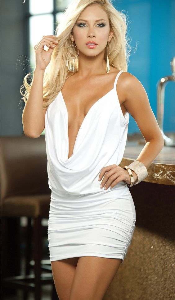 http://www.showfashiongirl.com/plunging-cowl-neck-club-dress-xy8542white-p-5059.html Plunging Cowl Neck Club Dress XY8542white