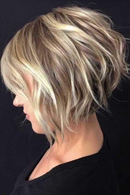 Inverted Wavy Bob Hairstyle Latest Bob Haircut 2020 In 2020 Wavy Bob Hairstyles Thick Hair Styles Inverted Bob Hairstyles