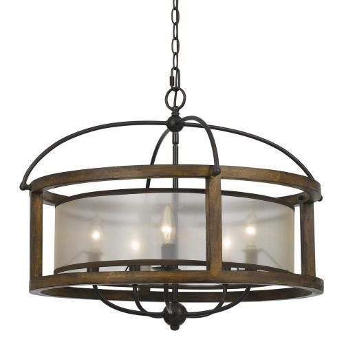Mission Five Light Round Pendant In 2020 Drum Chandelier