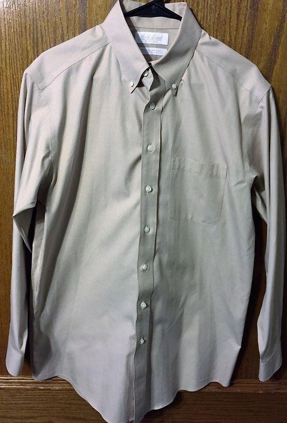 Gold Label Roundtree Yorke Dress Shirt Fitted Non Iron EZ Wash 100% Cotton #RoundtreeYorke