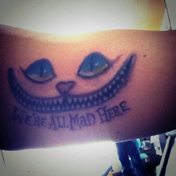 TheCheshire Cat. Alice's Adventures in Wonderlandand known for its distinctive mischievous grin. ♥♥♥ #4 #tattoos