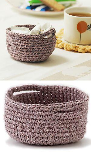 crochet basket - free pattern