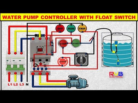 3 Phase Dol Starter Control And Power Wiring Diagram Water Pump Controller With Float Switch Electrical Jobs Electrical Projects Electrical Engineering Books