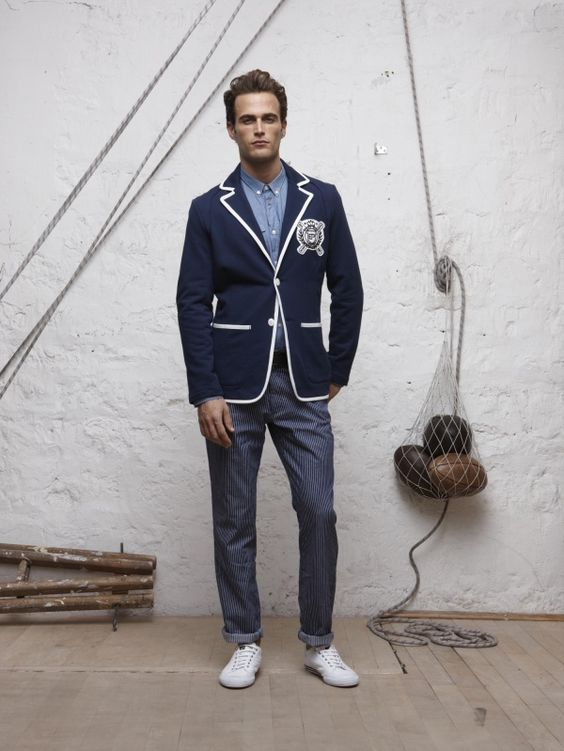 Piped blazer and pinstripey pants! Men&39s Fashion: Sport Coats