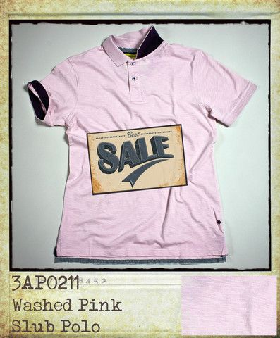 Washed Pink Polo