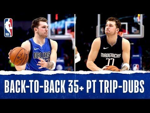 Youngest Player With Back To Back 35 Pt Triple Doubles Youtube With Images Nba League Pass Young Doubles