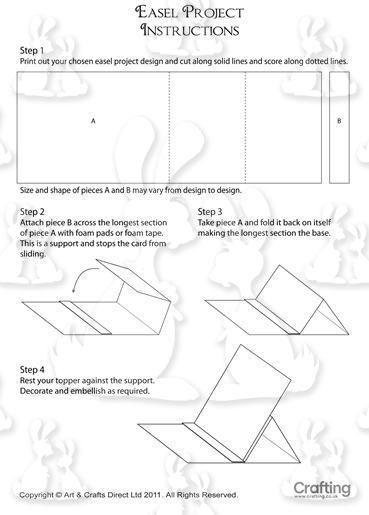 Instructions pour faire une carte chevalet