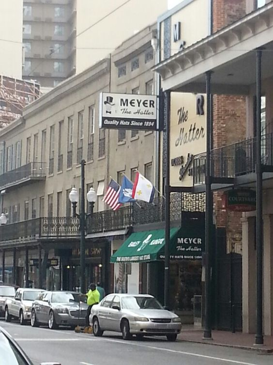Meyer the hatter.  Off Canal Street.  Oldest, coolest,  largest hat shop anywhere.   I ALWAYS buy a new hat there when I'm in town.