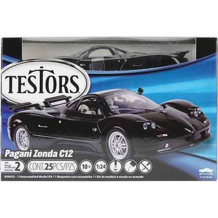 Testors Model Car Kit, Pagani Zonda C12, Black