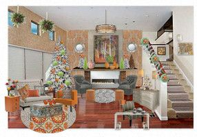 """Orange Time for Christmas"", by Bobbi Moore, Panache Designs."