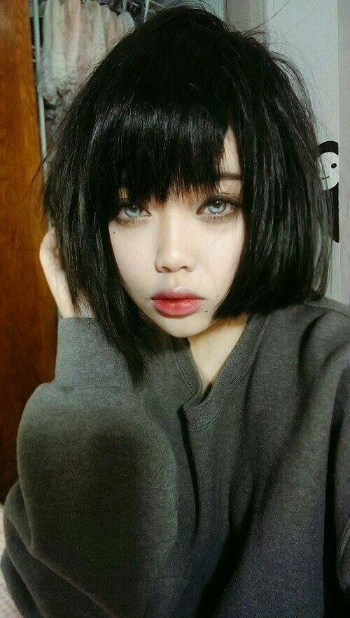 مكياج رمزيات بنات بنات كيوت Hair Styles Short Hair Styles Hair Color Pastel