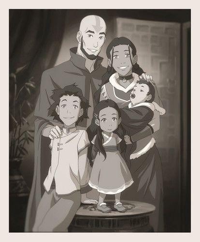 Avatar: The Last Airbender Photo: Aang and Katara's family portrait