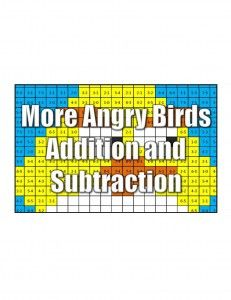 Angry Birds Math Coloring Pages- addition, subtraction, multiplication ...