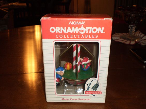 Vintage noma motorized ornamotion collectable christmas