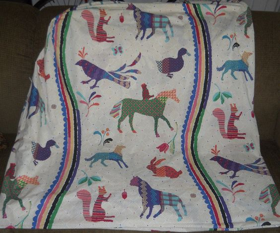 SOLD!!  Vtg Wamsutta Supercale Fitted Sheet King SZ Southwestern Aztec Cutter Repurpose…