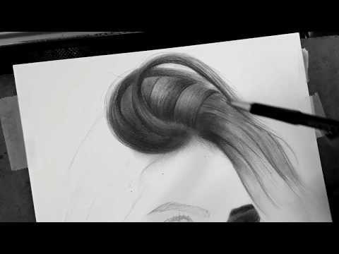 رسم الشعر بالرصاص للمبتدئين شرح صوتي Youtube Sketches Art Hair