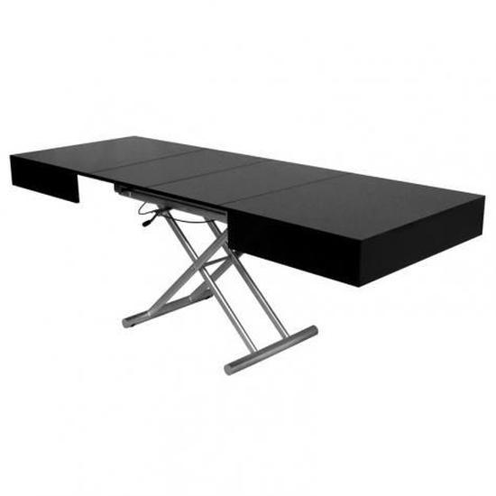 Table Basse Relevable Extensible Laquee Noir Smart Xxl Table Basse Relevable Table Basse Relevable Extensible Table Relevable Extensible