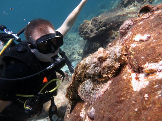 Dan with a Scorpion Fish