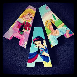 disney princess 3d paper mache letters tutorial