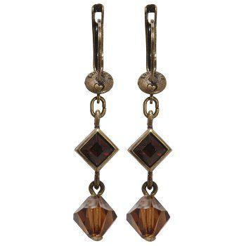 Baguette Collection earring dangling in brown No. 5450527665209 by KONPLOTT Miranda Konstantinidou