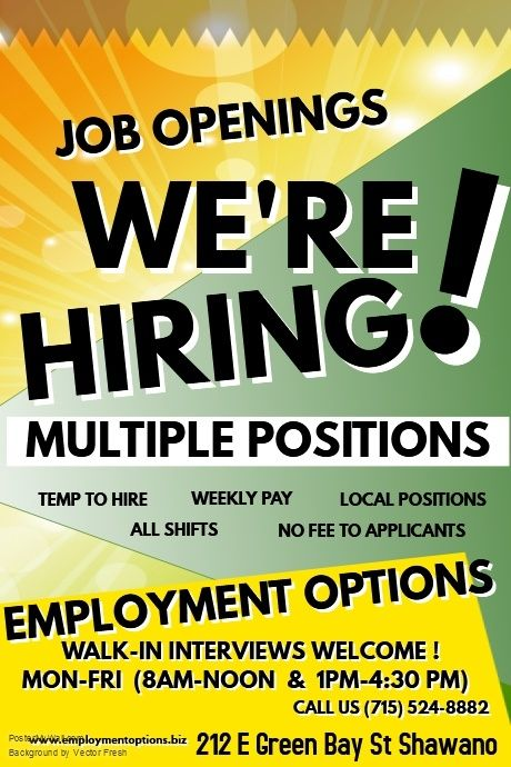 Current Openings With Employment Options In Shawano Wi Job Opening Daycare Teacher Employment
