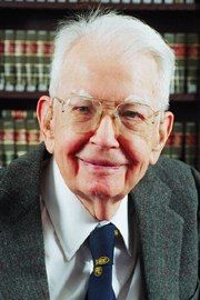 Ronald Coase.  Father of the Coase Theorem.
