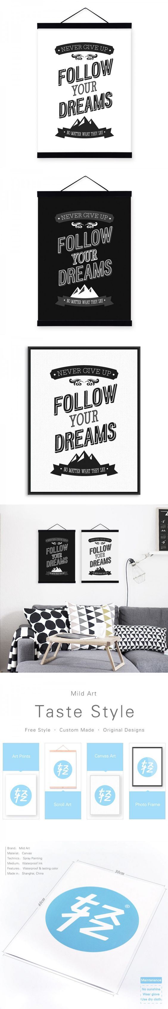Modern Minimalist Black White Motivational Typography Life Quotes A4 Art Prints Picture Wall Pictures Canvas Painting Home Decor $7