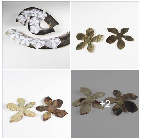 Roxy Lentz - process to make flower earrings
