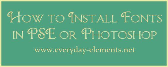 How to install custom fonts in PSE or Photoshop via @amandapadgett