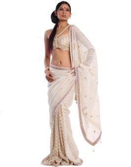 Miera Embellished, Woven Fashion Handloom Lace, Net, Georgette Sari