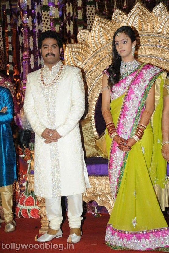 Pranathi Weds Jr Ntr In 2020 Indian Celebrities Celebrity Weddings Bridal Silk Saree