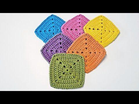 Quadrado De Crochê Perfeito Perfect Crochet Granny Square Tutorial De Crochê Diy Youtube Tutorial De Crochê Quadrados De Croche Crochê