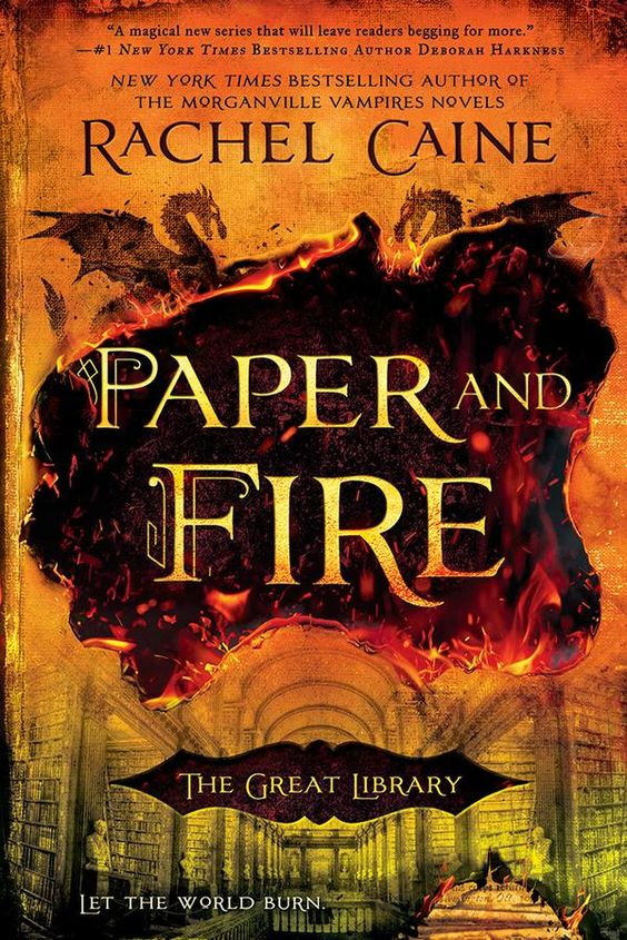 US #CoverReveal  Paper and Fire (The Great Library, #2) by Rachel Caine
