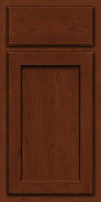 KraftMaid Cabinets -Arch Recessed Panel - Veneer (GCR) Cherry in Autumn Blush w/Onyx Glaze from waybuild