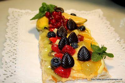 La cuina de sempre: Banda de crema amb fruita