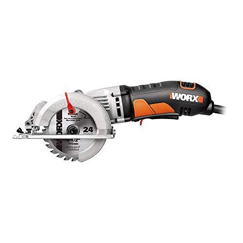 Worx Worxsaw 4 1 2 Compact Circular Saw Wx429l In 2020 Mini Circular Saw Compact Circular Saw Circular Saw Reviews