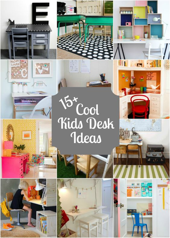 Cool desk ideas big kids and furniture on pinterest for Wonderful decorations cool kids desk
