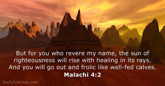 Malachi 4:2 - DailyVerses.net