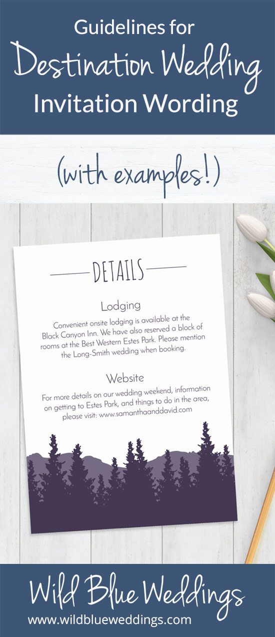 Guidelines For Destination Wedding Invitation Wording With