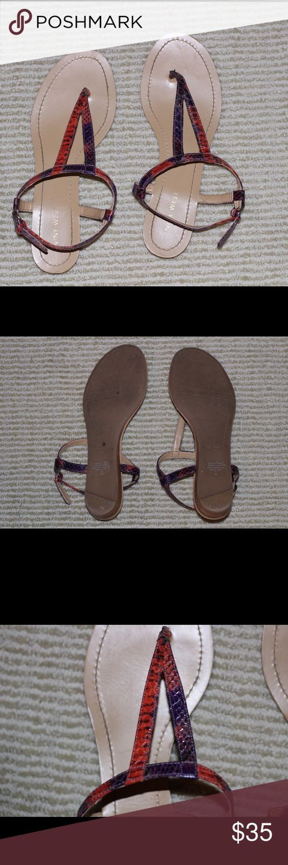 Nine West sandals Worn once! In perfect condition. Nine West Shoes Sandals